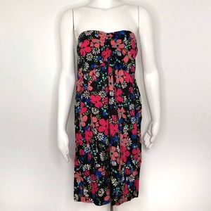 Xhilaration Floral Strapless Dress XL